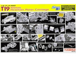 6496  T19 105mm Howitzer Motor Carriage - Smart Model Kit