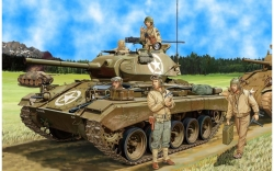 35069	 US Light Tank M-24 'Chaffee' (Early Prod.)  w/Crew (NW Europe 1944-45)