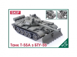 237  T-55A tank with BTU-55