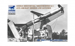 35050	 German Rheinmetall 'Rheintochter' R-2 anti-aircraft missiles and launcher